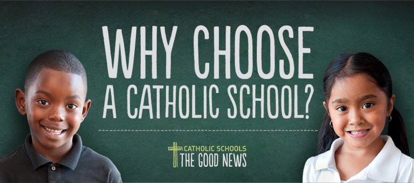 why choose a catholic school graphic